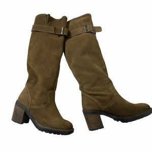 Les Lolitas Brown Suede Slouchy Tall Boots Italy